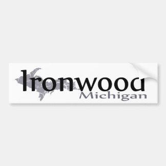 Autocollant De Voiture Adhésif pour pare-chocs du Michigan d'Ironwood