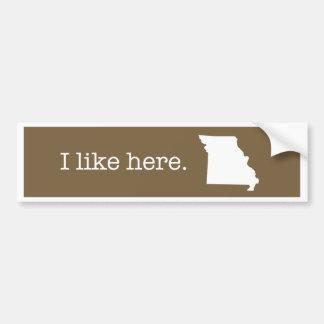 Autocollant De Voiture Adhésif pour pare-chocs du Missouri
