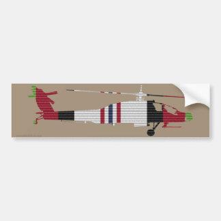 Autocollant De Voiture Adhésif pour pare-chocs du ruban AH-64 Apache
