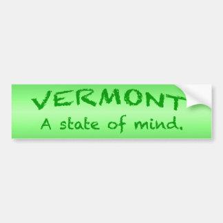 Autocollant De Voiture Adhésif pour pare-chocs du Vermont