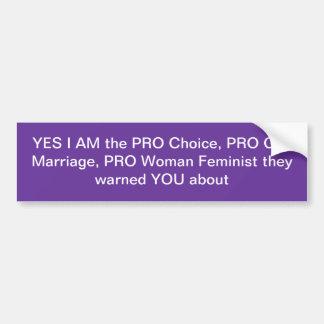 Autocollant De Voiture Adhésif pour pare-chocs féministe II