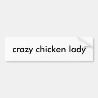 Autocollant De Voiture Adhésif pour pare-chocs fol de dame de poulet