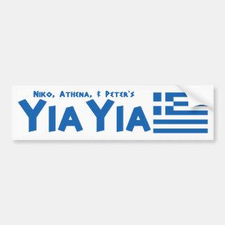 Autocollant De Voiture Adhésif pour pare-chocs grec de drapeau de YIAYIA
