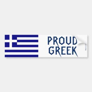 Autocollant De Voiture Adhésif pour pare-chocs grec fier