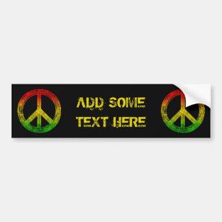 Autocollant De Voiture Adhésif pour pare-chocs grunge de symbole de paix