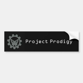 Autocollant De Voiture Adhésif pour pare-chocs noir 2 de logo de projet