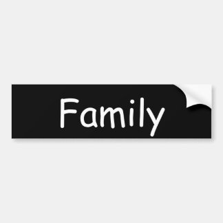 Autocollant De Voiture Adhésif pour pare-chocs noir et blanc de famille