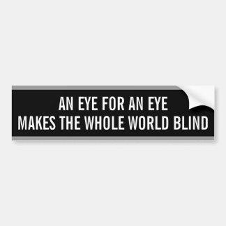 Autocollant De Voiture Adhésif pour pare-chocs : Un oeil pour un oeil