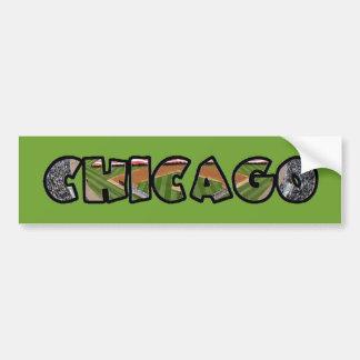 Autocollant De Voiture Adhésif pour pare-chocs vert artistique de logo de