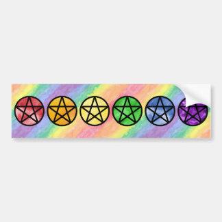 Autocollant De Voiture Adhésifs pour pare-chocs de pentagramme
