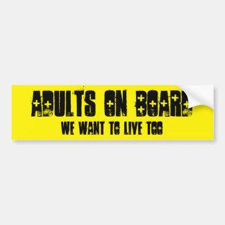 Autocollant De Voiture Adultes à bord de…