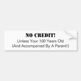 Autocollant De Voiture Affaires, aucun adhésif pour pare-chocs de crédit