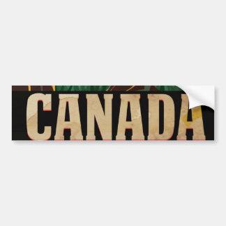 Autocollant De Voiture Affiche vintage de voyage du Canada