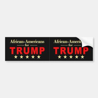 Autocollant De Voiture Afros-Américains pour Donald Trump 2016