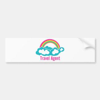 Autocollant De Voiture Agent de voyage de nuage d'arc-en-ciel
