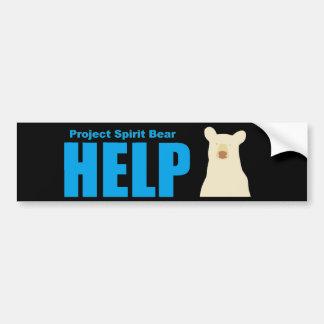 Autocollant De Voiture aide d'ours d'esprit de projet
