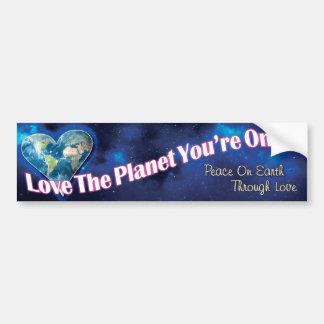 Autocollant De Voiture Aimez la planète que vous êtes sur l'adhésif pour