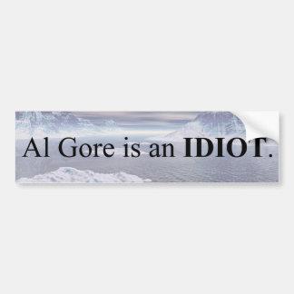 Autocollant De Voiture Al Gore est un idiot