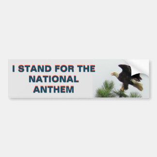 Autocollant De Voiture Américain Eagle que je représente l'hymne