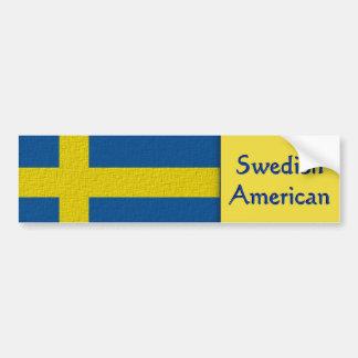 Autocollant De Voiture Américain suédois