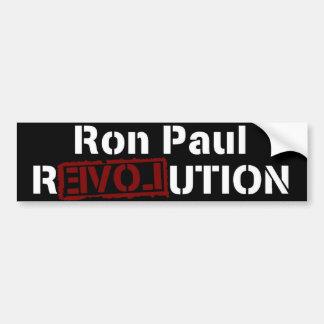Autocollant De Voiture Amour 2012 de révolution de Ron Paul
