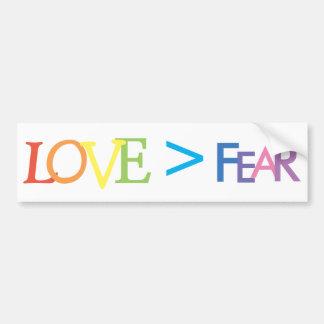 Autocollant De Voiture Amour > crainte