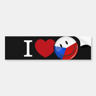 Autocollant De Voiture Amour de drapeau de sourire de République Tchèque