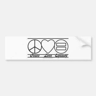 Autocollant De Voiture Amour et égalité de paix