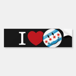 Autocollant De Voiture Amour pour le drapeau de sourire de Chicago