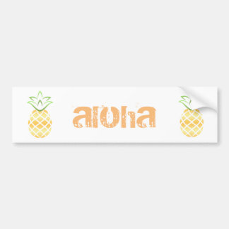 Autocollant De Voiture Ananas Aloha Hawaï !