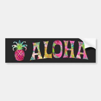 Autocollant De Voiture Ananas de PixDezines Aloha