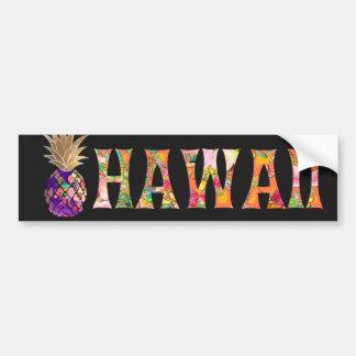 Autocollant De Voiture Ananas de PixDezines Hawaï