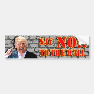 Autocollant De Voiture Anti- Donald Trump disent NON au bâton de