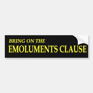 Autocollant De Voiture Apportez sur l'adhésif pour pare-chocs de clause