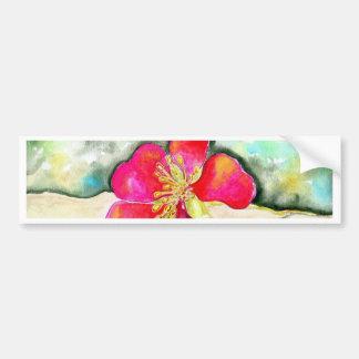 Autocollant De Voiture Aquarelle rose de fleur de mystère