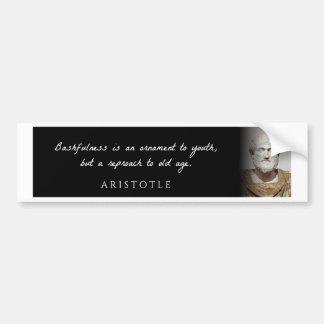 Autocollant De Voiture Aristote - la timidité est un ornement à mais…
