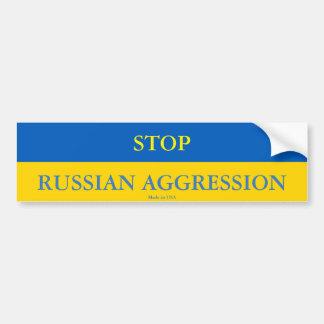 Autocollant De Voiture Arrêtez l'adhésif pour pare-chocs russe