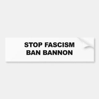 Autocollant De Voiture Arrêtez le fascisme, interdiction Bannon
