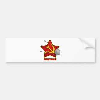 Autocollant De Voiture Art d'affiche de Спутник Spoutnik