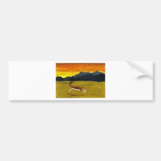 Autocollant De Voiture Art de faune de gazelle de coucher du soleil