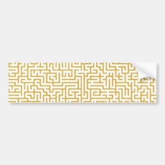 Autocollant De Voiture Art moderne de labyrinthe élégant - or et blanc