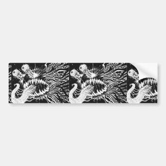 Autocollant De Voiture Art noir et blanc d'horreur