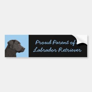 Autocollant De Voiture Art original de chien de peinture noire de