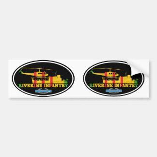 Autocollant De Voiture ATC riverain du Vietnam d'infanterie (H)