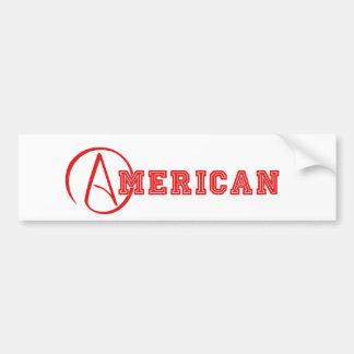 Autocollant De Voiture Athée américain