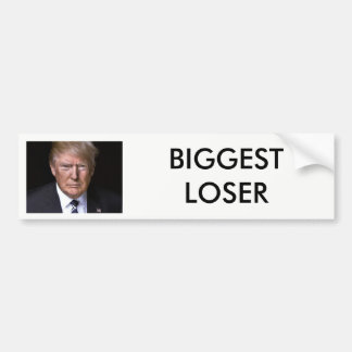 """Autocollant De Voiture Atout d'anti-Donald du """"plus grand perdant"""""""