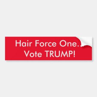 Autocollant De Voiture Atout de vote de la force une de cheveux… !