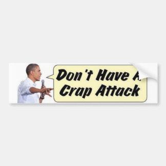 Autocollant De Voiture Attaque de merde d'Obama