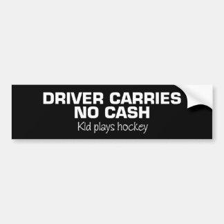 Autocollant De Voiture Aucun argent liquide (hockey de jeu d'enfants)