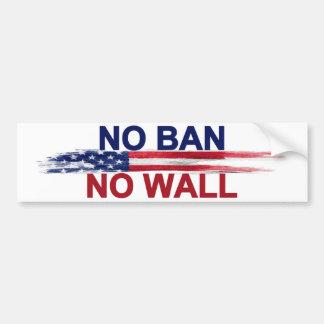 Autocollant De Voiture Aucune interdiction aucun mur